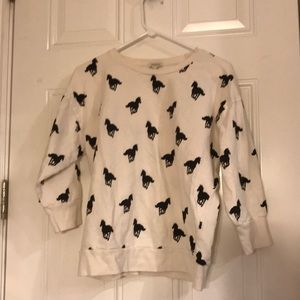 Forever 21 horse sweatshirt